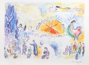 La Procession de Noel by Marc Chagall