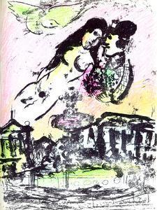 Le Ciel de la Place de la Concorde by Marc Chagall