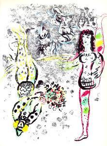 Le jeu des Acrobates by Marc Chagall