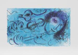 Le Jouer de Flute by Marc Chagall