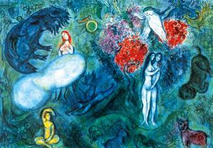 Le Paradis by Marc Chagall