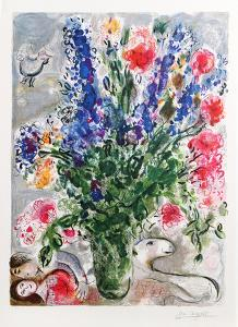 Les Lupins Bleus by Marc Chagall