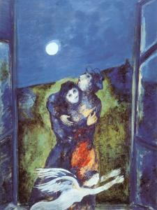 Lovers in Moonlight by Marc Chagall