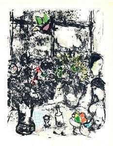 Nature Morte Au Bouquet by Marc Chagall