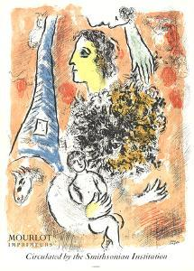 Offering to the Eiffel Tower by Marc Chagall
