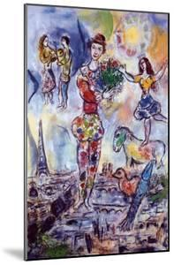 On the Roof of Paris by Marc Chagall