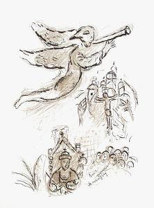 Plafond de l'Opéra: Boris Godounov by Marc Chagall