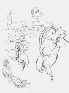 Plafond de l'Opéra: Carmen by Marc Chagall