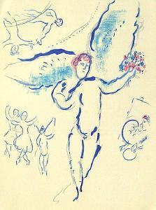 Plafond de l'Opéra: Loiseau de Feu by Marc Chagall