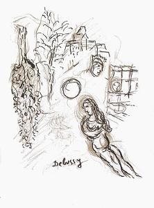 Plafond de l'Opéra: Pelleas et Melisande by Marc Chagall