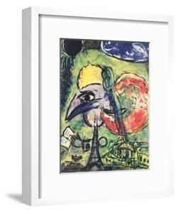 The Bride and Groom of the Eiffel Tower by Marc Chagall