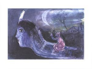 The Sled by Marc Chagall