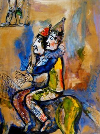 Two Clowns on a Horse-Back by Marc Chagall
