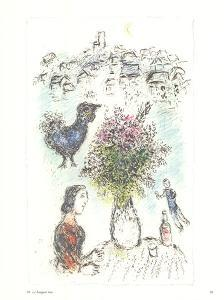 Vase of Flower by Marc Chagall