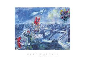 View of Paris by Marc Chagall