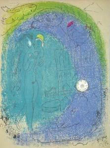 Vision de Paris Notre Dame by Marc Chagall