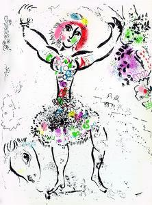 Woman Juggler by Marc Chagall