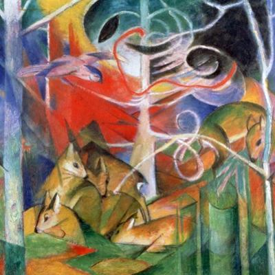 'Deer in the Forest I', 1911. Artist: Marc Franz by Marc Franz