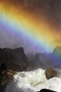 A Brilliant Rainbow Formed Below the Lower Yosemite Falls by Marc Moritsch