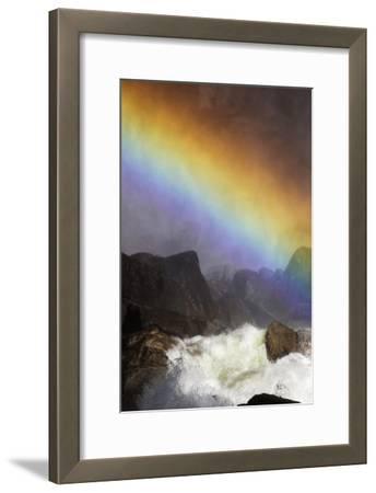 A Brilliant Rainbow Formed Below the Lower Yosemite Falls