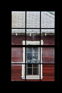 A View Through a Window at the Abandoned Kennecott Copper Mine by Marc Moritsch
