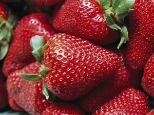 Close View of Ripe Strawberries by Marc Moritsch