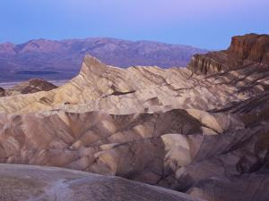 Rugged, Ridged Landscape and Mountains at Zabriskie Point by Marc Moritsch