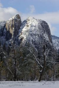 Snow-Covered Cathedral Rocks in Yosemite Valley by Marc Moritsch