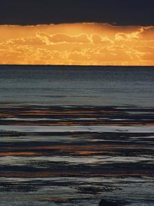 The Sun Sets over the Pacific Ocean off Shell Beach by Marc Moritsch