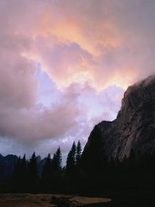 Twilight View of Clouds Above the Merced River by Marc Moritsch
