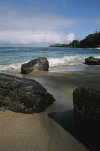 Volcanic Beach Rocks Along the West Coast of Maui by Marc Moritsch