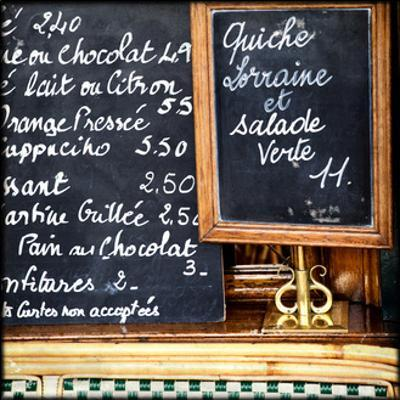 Chalkboard Menu by Marc Olivier