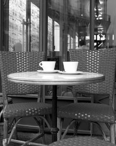 Paris Cafe Black and White by Marc Olivier