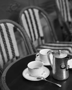 Tea in Paris Black and White by Marc Olivier