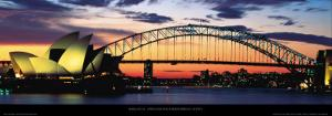Opera House and Harbor Bridge, Sydney by Marc Segal