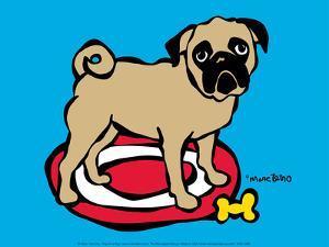 Pug on a Rug by Marc Tetro