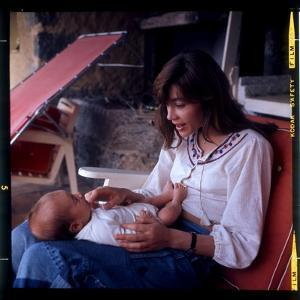 Françoise Hardy and Her Son, Thomas by Marcel Begoin