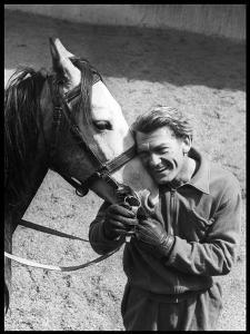 Jean Marais with a Horse by Marcel Begoin