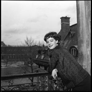 Romy Schneider on a Balcony by Marcel Begoin