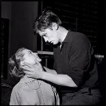 Romy Schneir and Alain Delon Sharing a Moment, 1960'S-Marcel Begoin-Photographic Print