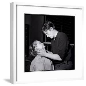 Romy Schneir and Alain Delon Sharing a Moment, 1960'S by Marcel Begoin