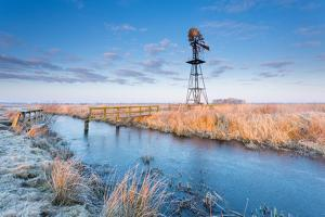 Old Windmill and Bridge by Marcel Kerkhof Photography