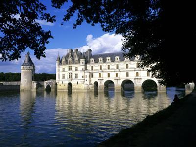 Chenonceau Castle, Loire, View of Chateau Through Trees