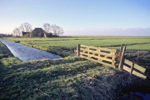 Friesland, Agricultural Landscape and Farm at Oosterzee by Marcel Malherbe