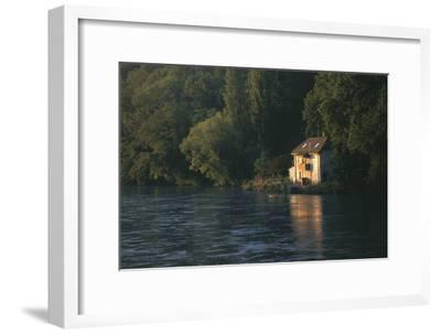House on the Rhone River, Surronded by Trees, Geneva