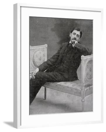 Marcel Proust French Writer Relaxing on an Ornate Sofa-Otto-pirou-Framed Photographic Print