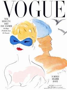 Vogue Cover - July 1949 by Marcel Vertes