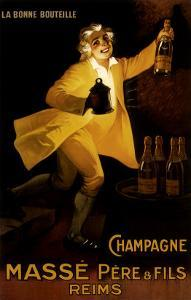 Masse Pere & Fils Champagne, c.1920 by Marcellin Auzolle