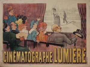 Poster for Cinematograph Lumiere by Marcellin Auzolle