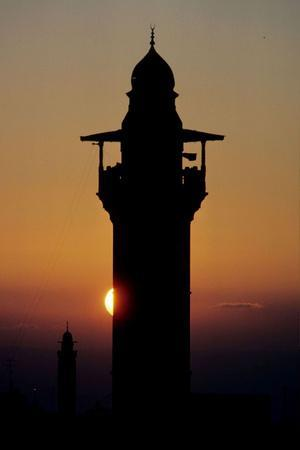 The Minaret of Al Aqsa Mosque at Sunset
